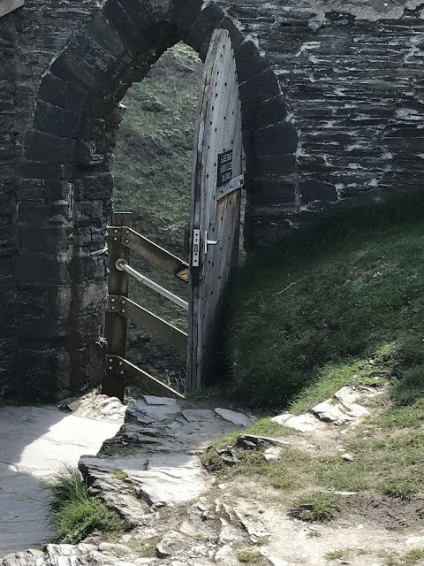 Door going into Tintagel Castle