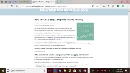 Blogging Basis 101